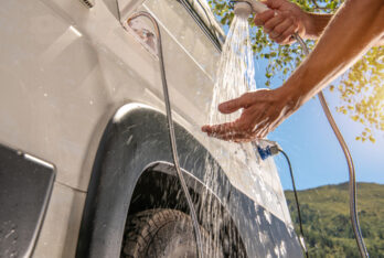 How to Shower while Living in a Motorhome